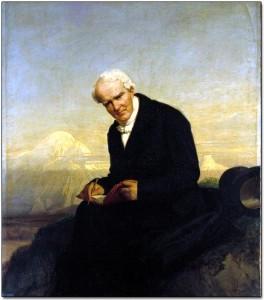 Sittin' on Top of the World: Alexander von Humboldt mit Chimborazo, Gemälde von Julius Schrader 1859
